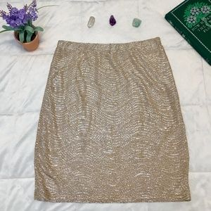 Shimmery Gold H&M Mini Skirt